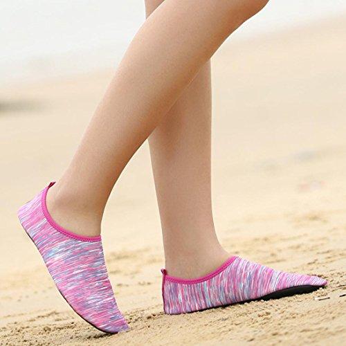 Aqua Women Beach Slipper Shoes Men Water Home Dry Shoe Summer for Socks Surf Kid Barefoot Quick Pool Diving Pink Swimming Yoga for Iw6B5Uzq