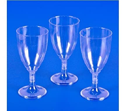 bb45e029d5 Image Unavailable. Image not available for. Color  Plastic Clear Wine Glass  ...