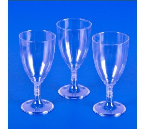 Plastic Clear Wine Glass Pieces