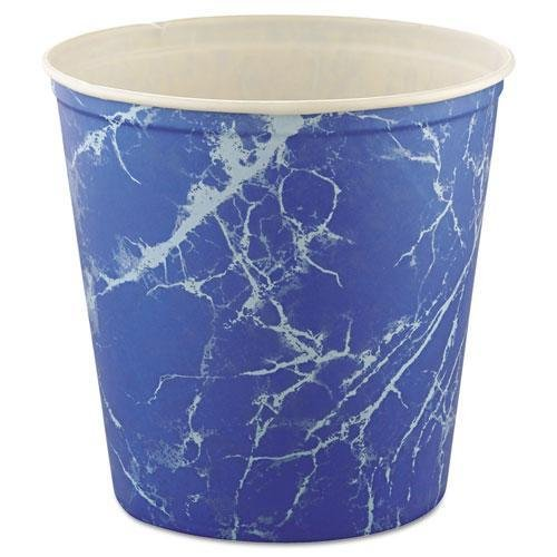 - SCC10T3M - Double Wrapped Paper Bucket, Waxed, Blue Marble, 165 Oz