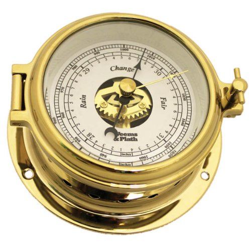 - Weems and Plath Endurance II 105 Open Dial Barometer, Brass