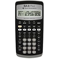 Texas Instruments BA II Plus Financial Calculator Black