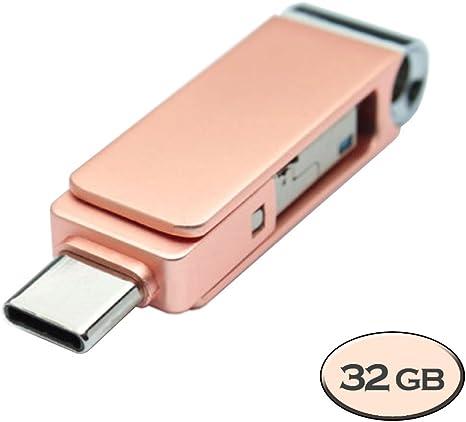 V-smart TC-303 USB 3.0 Tipo C Flash Drive 3 en 1 USB C, USB A ...