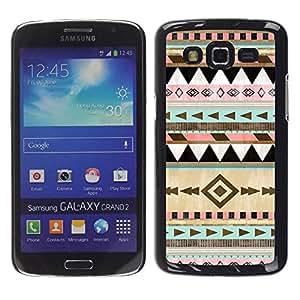 TopCaseStore / la caja del caucho duro de la cubierta de protección de la piel - Winter Christmas Pattern - Samsung Galaxy Grand 2 SM-G7102 SM-G7105