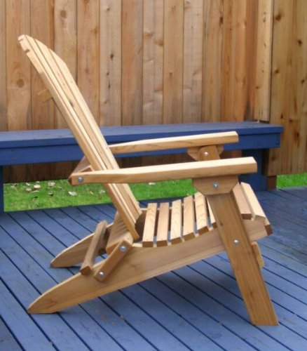 Kilmer Creek Folding Natural Cedar Adirondack Chair, Amish Crafted