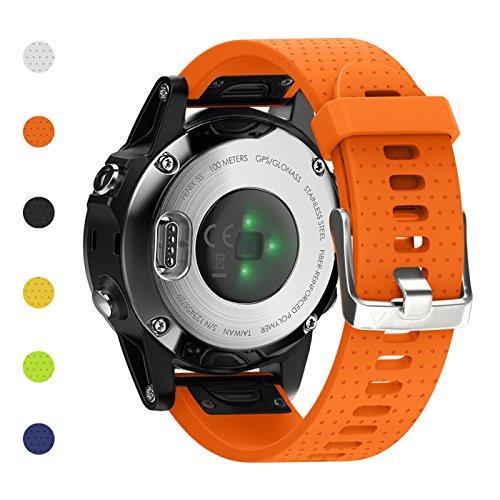Fashioneey Compatible for Garmin Fenix 5S Band,Quick Release 20mm Silicone Smart Watch Replacement Strap Compatible for Garmin Fenix 5S