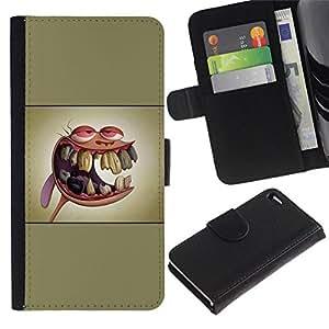// PHONE CASE GIFT // Moda Estuche Funda de Cuero Billetera Tarjeta de crédito dinero bolsa Cubierta de proteccion Caso Apple Iphone 4 / 4S / Ren & St1Mpy /