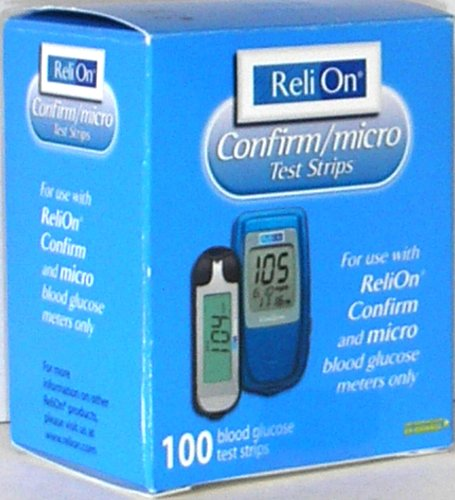 Relion Confirm/micro 100 Test Strips, Pack of 1