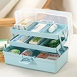Bazaar 7 Slots Large Home Storage Box Medicine Cabinet Drug Organizer Case First Aid Kit Box Travel Bins