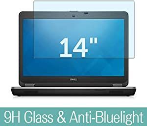 """Synvy Anti Blue Light Tempered Glass Screen Protector Compatible with DELL Latitude 14 E6440 14"""" Visible Area 9H Protective Screen Film Protectors"""