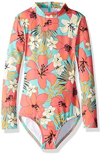 Billabong Girls' Aloha Sun Bodysuit Rashguard Mo-Mint Large