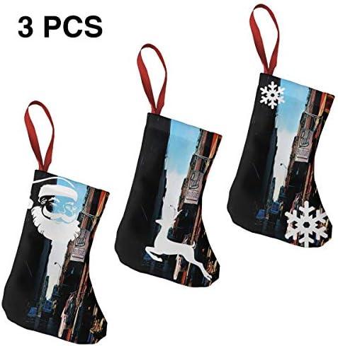 クリスマスの日の靴下 (ソックス3個)クリスマスデコレーションソックス 音楽獣Beastie Boys クリスマス、ハロウィン 家庭用、ショッピングモール用、お祝いの雰囲気を加える 人気を高める、販売、プロモーション、年次式