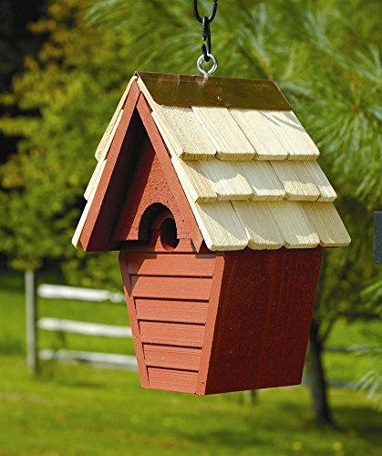 Wren-In-The-Wind Bird House in Redwood (Redwood Cypress Birdhouse)