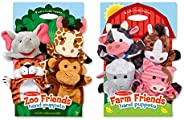Melissa & Doug Hand Puppet Bundle - Farm And Zoo Fri