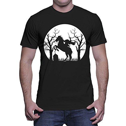 Men's Headless Horseman Silhouette T-Shirt (Black,