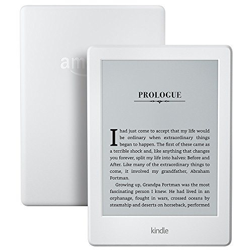 """Kindle E-reader - White, 6"""" Display, Wi-Fi - Includes Special Offers + Kindle Unlimited (with auto-renewal)"""