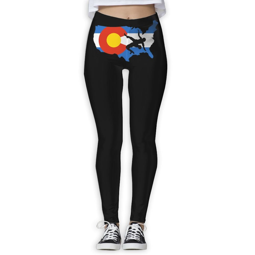 Okb-7 Womens Colorado USA Wrestling Yoga Long Pants,Athletic Gym Capris Pants Casual Sweatpants by Okb-7
