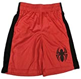 Bundled Brands Boys Youth Printed Performance Basketball Athletic Shorts (Medium 8, Red - Spiderman)