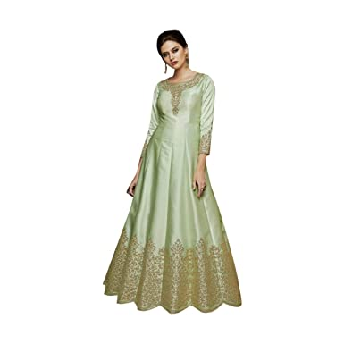 1c0b46cd11 Ready to wear Designer Pista Satin Silk Cocktail Gown Dress for ...