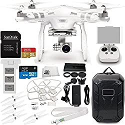 DJI Phantom 3 Advanced Quadcopter w/ 1080p HD Video Camera & Manufacturer Accessories + DJI Propeller Set + Water-Resistant Hardshell Backpack + 7PC Filter Kit (UV-CPL-ND2-400-Hood-Stabilizer) + MORE