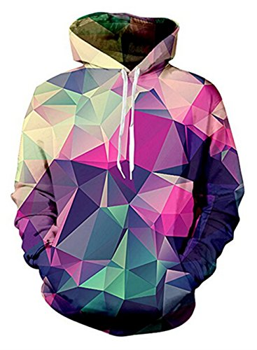 (Uideazone Boys Girls 3D Cool Diamond Pullover Sweatshirt Hoodie Outwear, 53, Asia L = US)