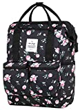 DISA Convertible Backpack Diaper Bag | 17.3''x10.6''x6.7'' | Fits 14-inch Laptop | Rose Black