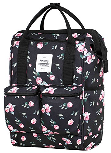 DISA Convertible Backpack Diaper Bag | 17.3''x10.6''x6.7'' | Fits 14-inch Laptop | Rose Black by hotstyle