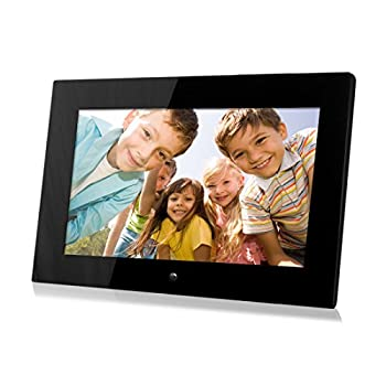 Image of 14-Inch Digital Photo Frame (Black), Hi-Resolution, Various Transitional Effects, Slide Show,Interval time Adjustable, Plug in a SD Card or Flash Drive to Access and Display Your Photos - Local Stock Digital Picture Frames