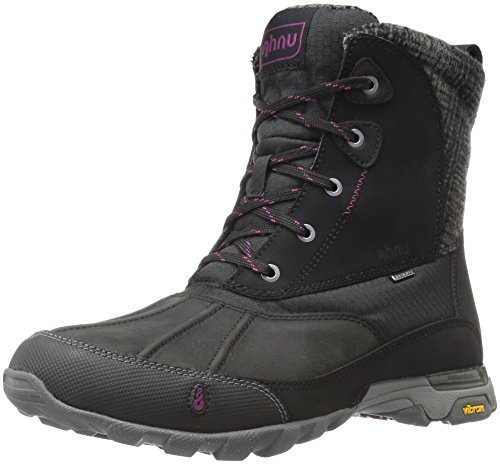 Ahnu Women's Sugar Peak Insulated Waterproof Hiking Boot, Black, 9 M US by Ahnu