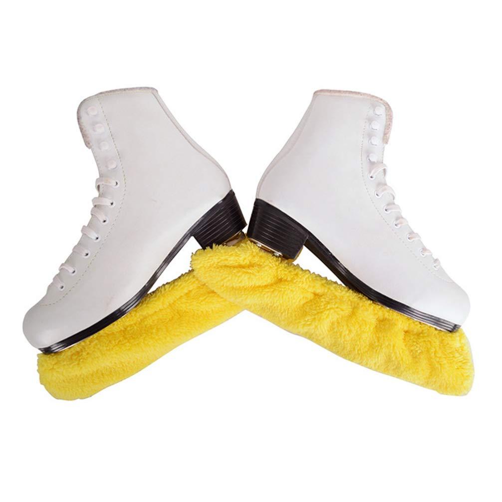 LIOOBO 2 pares de pat/ín de hockey sobre hielo cubierta de cuchilla el/ástica de felpa protector de cuchilla para ni/ños toalla de absorci/ón de agua de felpa suministros de patinaje de hockey sobre hielo