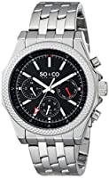 SO&CO York Men's 5003.1 Monticello Analog Display Japanese Quartz Silver Watch from SO&CO New York