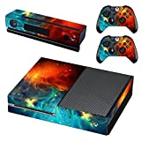 UUShop Protective Vinyl Skin Decal Cover for Microsoft Xbox One Console wrap sticker skins with two Free wireless controller decals Cosmic Nebular For Sale