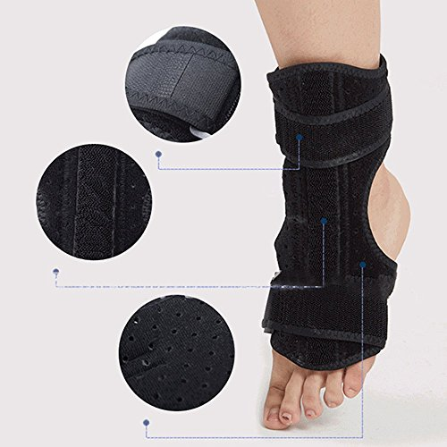 Finlon Breathable Night Foot Drop Brace Correction Ankle Support Stabilizer Corrector FOR Plantar Fasciitis Foot Cramps