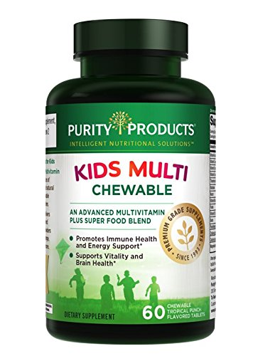 - Kid's Chewable Multivitamin - 60 Chewable Tropical Punch Flavored Tablets - IQ Essentials for Children from Purity Products