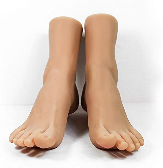1 Pair lifesize realistic silicone foot mannequin fetish love jewelry display 32