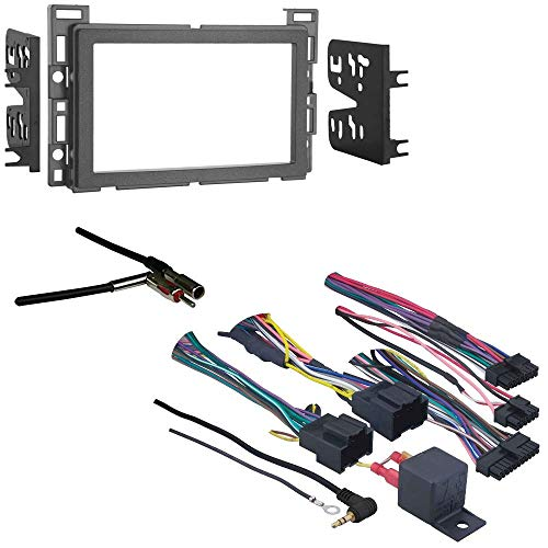 Axxess GMOS-LAN-034 GM Factory Integration Interface OnStar and Chime Retention Module for 2006-Up Select GM Vehicles Metra Double DIN Dash Kit for 2010-Up Select GM/Pontiac/Saturn Vehicles (Silver)