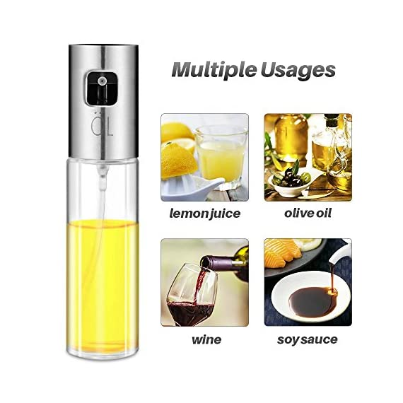 Olive Oil Sprayer for Cooking, Oil Spray Bottle Oil Dispenser Vinegar Bottle with 2 Bonus BBQ Oil Brushes for Kitchen Baking, Salad, Roasting, Frying and Barbecue Grills by MAYBEST 6