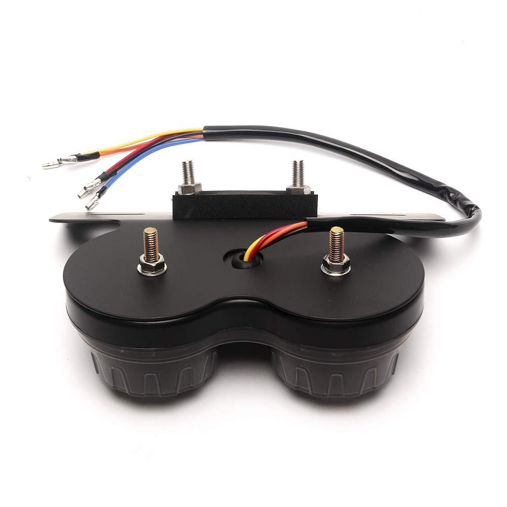 Triclicks Moto Fanale Posteriore LED Luci Freno Stop Lampada Indicatore di Direzione con Supporto Portatarga Universale