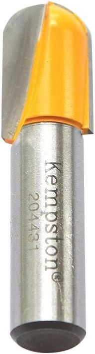Kempston 204051 Round Nose Bit 1//4-Inch Shank 1//2-Inch Cutting Diameter by 5//8-Inch Cutting Length