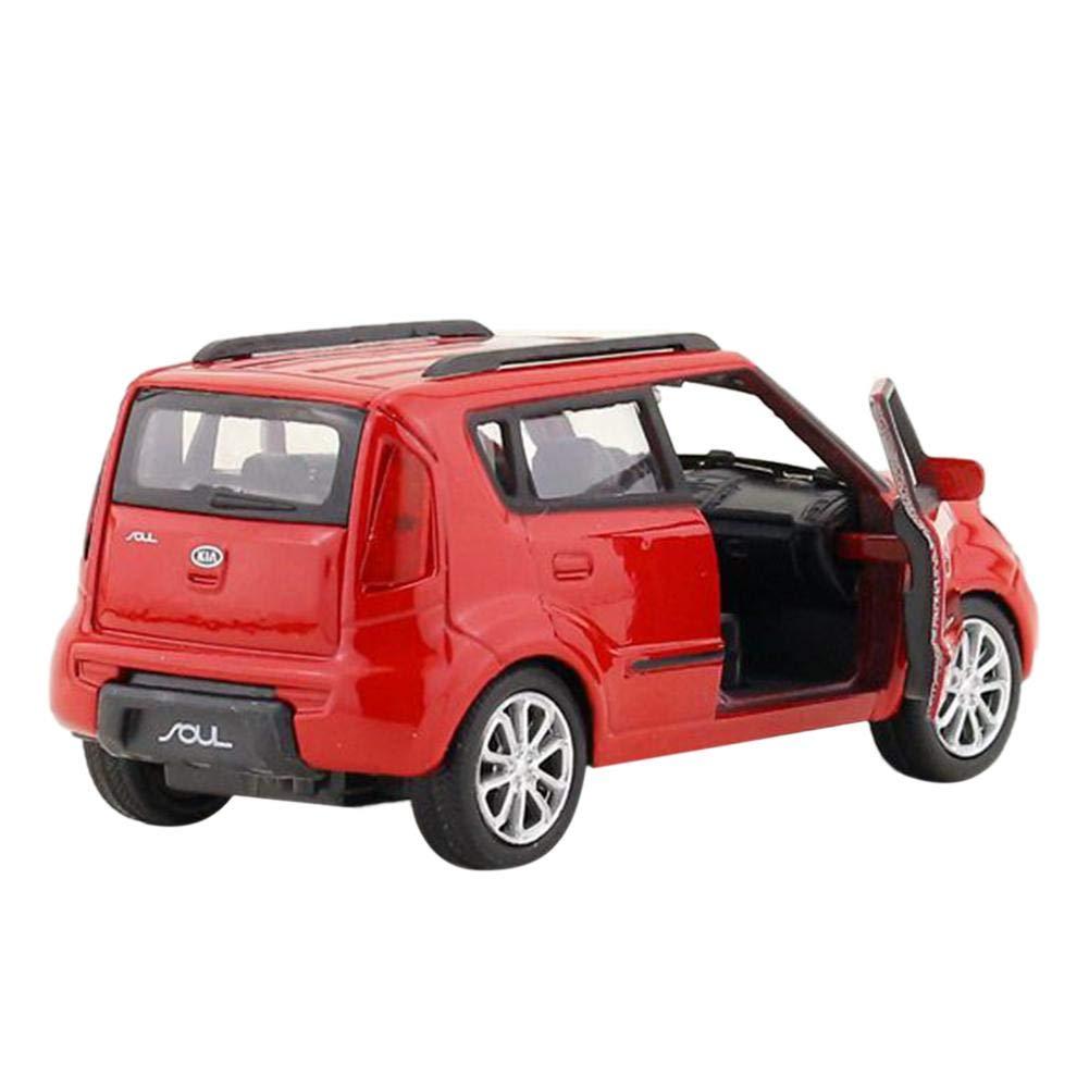 Sroomcla 1:36 Lega Pull Back Model Car Kia Soul SUV Musica E Flash Diecast Toy Vehicle Modelli di Auto in Lega di Alluminio KIA Soul Model Cars Tirare Indietro Car Toy