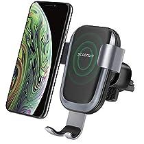 Caricatore Wireless Auto,Steanum Ricarica Rapida Wireless Auto Vento Supporto Telefono per iPhone Xs/Xr/X/8/8Plus/7,Samsung Note 5/8, Galaxy S9/S8//S7/S6 Edge+