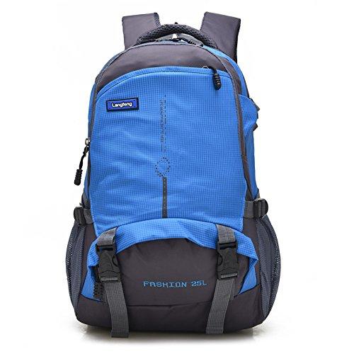 Mountaineering Bag 25L Rucksack Outdoor Reisen Wandern Klettern Camping wasserdichte Bergsteigen Unisex Taschen , grün