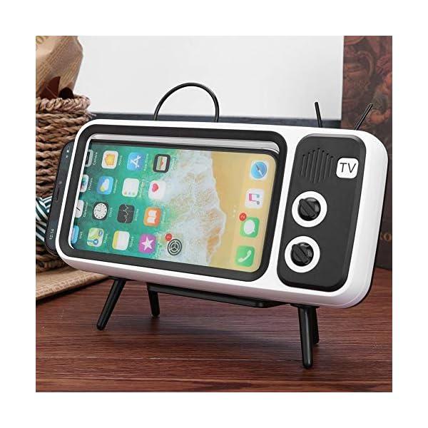 Domybest Enceinte Bluetooth Portable Mini Haut-Parleur Bluetooth Support de Téléphone de Forme TV Rétro Lecteur de Musique Sound Box Bluetooth Portable sans Fil 4