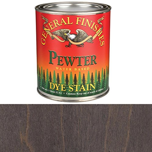 General Finishes DQP Water Based Dye, 1 quart, Pewter Pewter Pewter Finish
