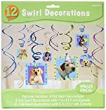Amscan Adorable Party Pups Swirls Decorations Value Kit, 24'', Multicolor