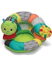 Infantino Prop-A-Pillar Tummy Time & Seated Support - Kussensteun voor pasgeboren en oudere baby's, met afneembaar steunkussen en speelgoed, voor de ontwikkeling van sterke hoofd- en nekspieren