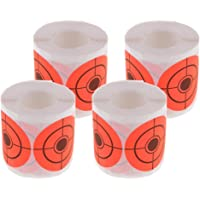 Perfeclan 1000 Pieces High Visibility Targets Orange Paper Target Stickers