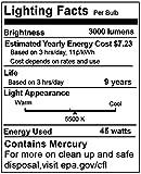 Cowboystudio Full Spectrum Light Bulb- Four 45W Photography Photo CFL 5500K - Daylight balanced pure white light, (Pack Of 4)