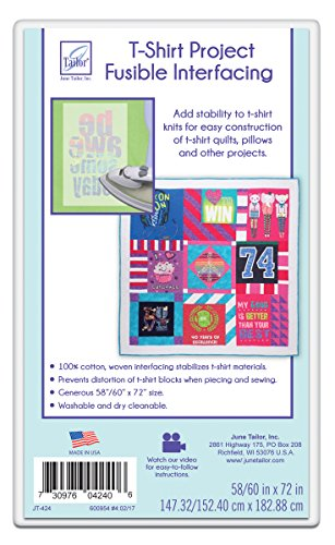 - June Tailor T-Shirt Project Fusible Interfacing, 60 by 72-Inch, White