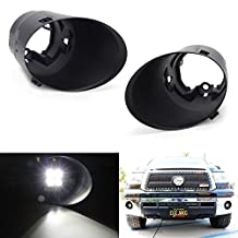 iJDMTOY Pair Left & Right Side Fog Lights Foglamps Bezel Covers For 2007-2013 Toyota Tundra (Pre-LCI)